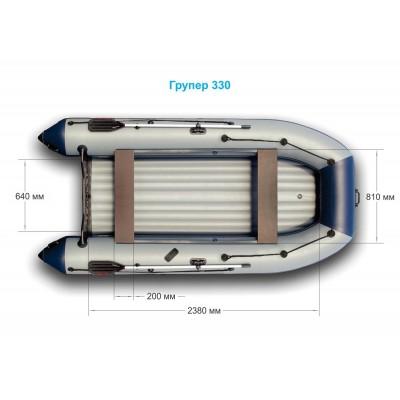 Надувная лодка GROUPER 330