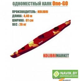 Корпусная лодка Kolibri каяк One-GO красно-оранжевый