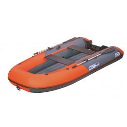 Надувная лодка ПВХ Boatsman BT320A с НДНД графитово-оранжевый