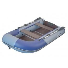 Надувная лодка ПВХ BoatsMan BT280 серо-синий
