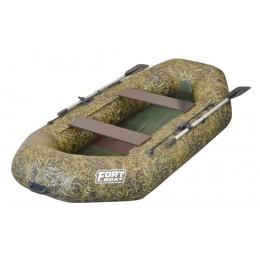 Надувная лодка ПВХ FORT 260 камуфляж-камыш