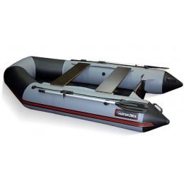 Надувная моторно-гребная лодка Хантер 290 ЛКА серая