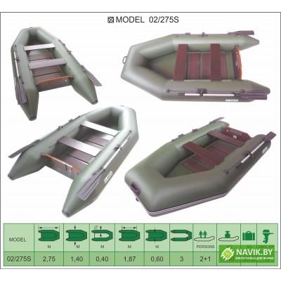 Надувная лодка Велес 02/275S
