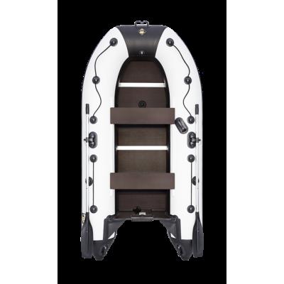 """Надувная  лодка Ривьера Компакт 2900 СК """"Касатка"""" светло-серый/черный"""