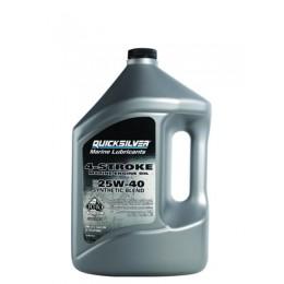Масла для лодочных моторов Quicksilver 4-Stroke Marine Engine Oil Sae 25W-40 Synthetic Blend 4L