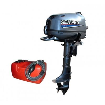Лодочные моторы Sea-Pro F 5S + топливный бак 12л.