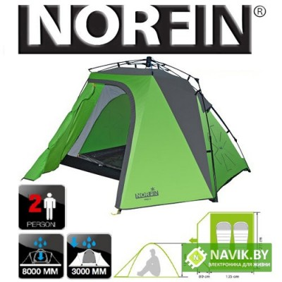 Палатка 2-x местная Norfin PIKE 2 NF-10404