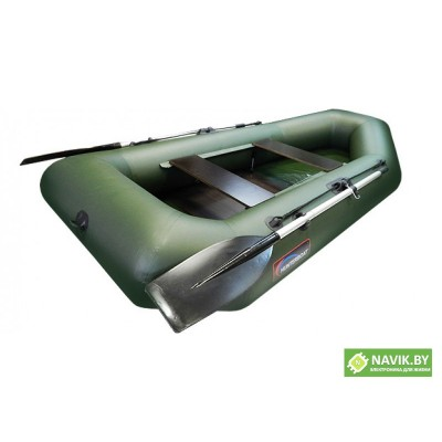 Надувная лодка Хантер 250 МЛ зеленая