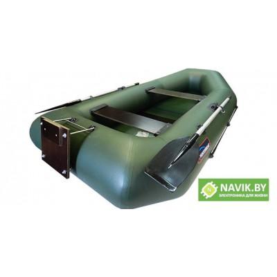 Надувная лодка Хантер 280 РТ зеленая