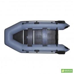 Надувная моторно-гребная лодка Хантер 290 ЛК серая