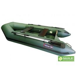 Надувная моторно-гребная лодка Хантер 290 ЛН зеленая