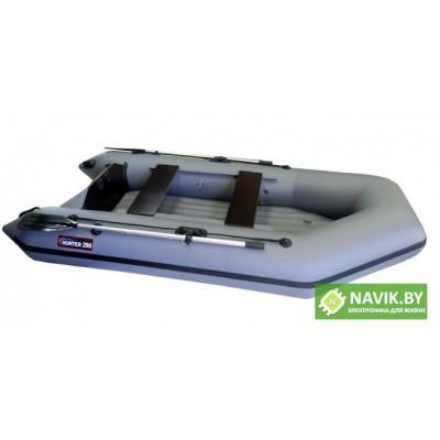 Надувная моторно-гребная лодка Хантер 290 ЛН серая
