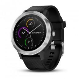 Фитнес-браслет GARMIN Vivoactive 3 черный с светлым безелем