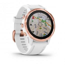 Фитнес-браслет Garmin Fenix 6S Pro розовое золото с белым ремешком